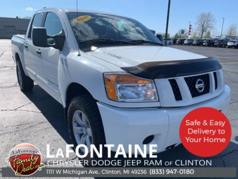 Pre-Owned 2011 Nissan Titan SV 4WD 4D Crew Cab